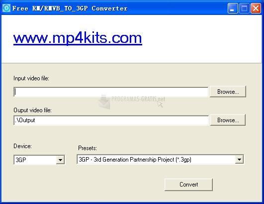Pantallazo Free RM to 3GP Converter