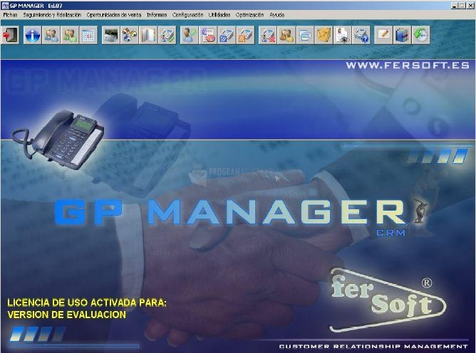 Pantallazo GestPlus CRM Manager