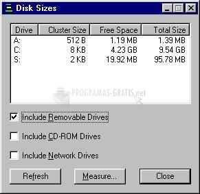 Pantallazo DiskSizes