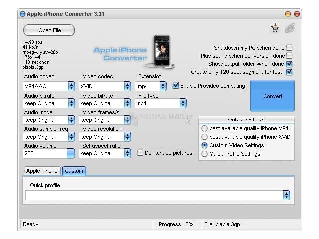 Pantallazo Apple iPhone Converter