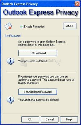 Pantallazo Outlook Express Privacy