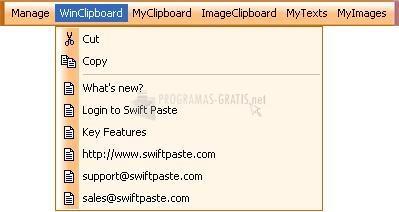 Pantallazo Swift Paste for Wx
