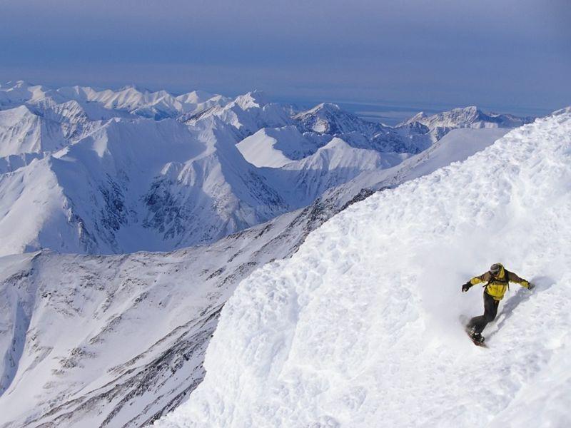 Pantallazo Alaska Snowboarding