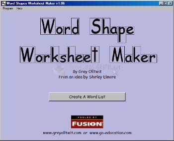 Pantallazo Word Shape Worksheet Maker
