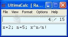Pantallazo UltimaCalc