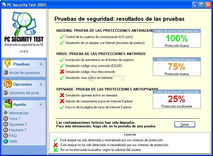 Pantallazo PC Security Test