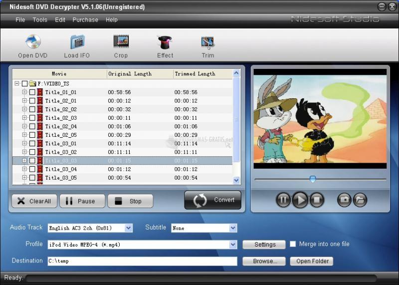 Pantallazo Nidesoft DVD Decrypter