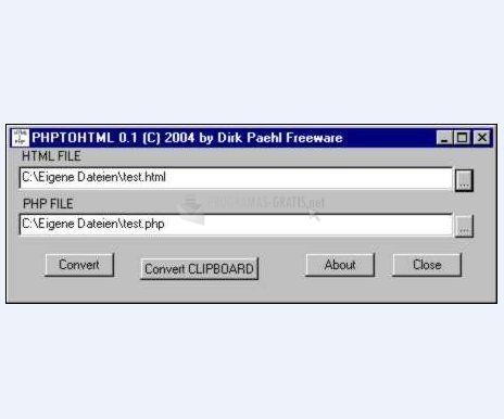 Pantallazo HTML 2 PHP