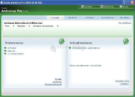 Pantallazo Panda Antivirus for Netbooks