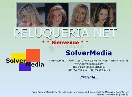 Pantallazo Solvermedia Peluquerías Net