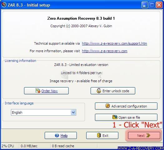 Pantallazo Zero Assumption Digital Image Rec
