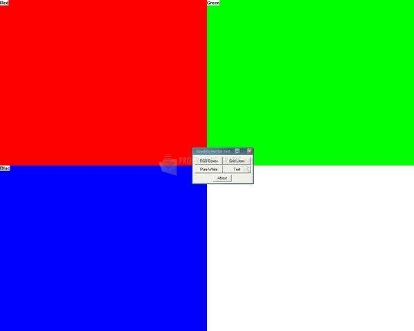 Pantallazo Roadkil´s Monitor Test