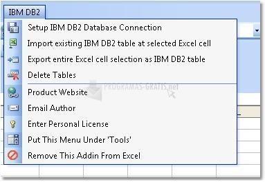 Pantallazo Excel IBM DB2