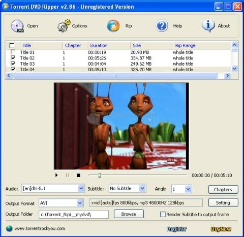 Pantallazo Torrent DVD Ripper