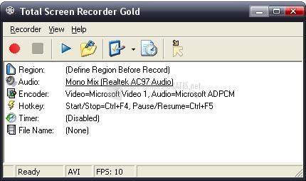 Pantallazo Total Screen Recorder Flash