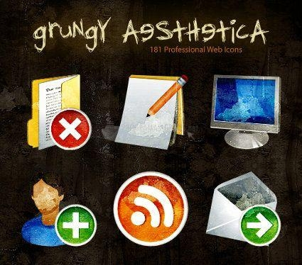 Pantallazo Grungy Aesthetica Icon Set