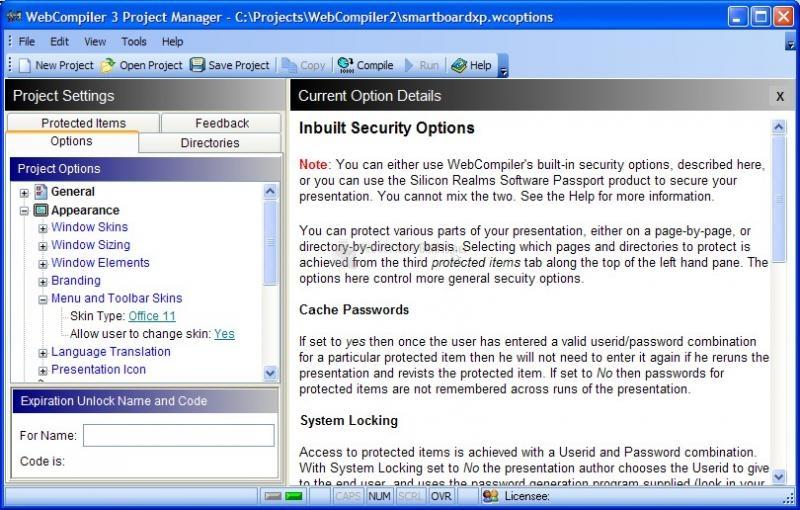 Pantallazo Webcompiler