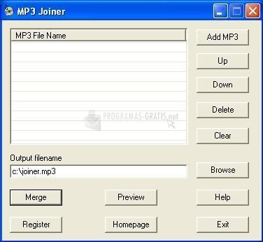 Pantallazo MP3 Joiner