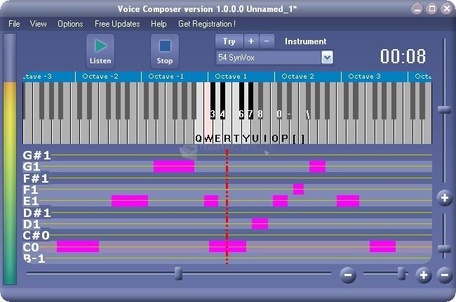 Pantallazo Xitona Voice Composer