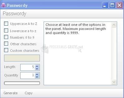 Pantallazo Passwordy