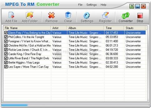 Pantallazo MPEG To RM Converter