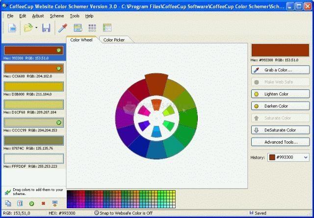 Pantallazo Website Color Schemer