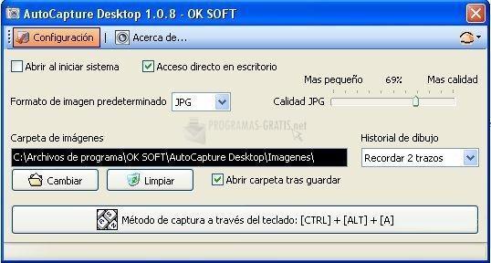 Pantallazo AutoCapture Desktop