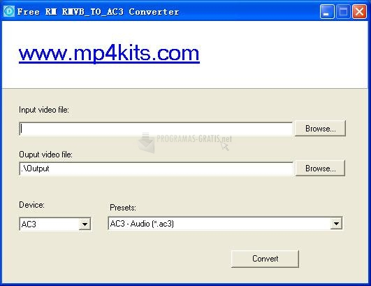 Pantallazo Free RM to AC3 Converter