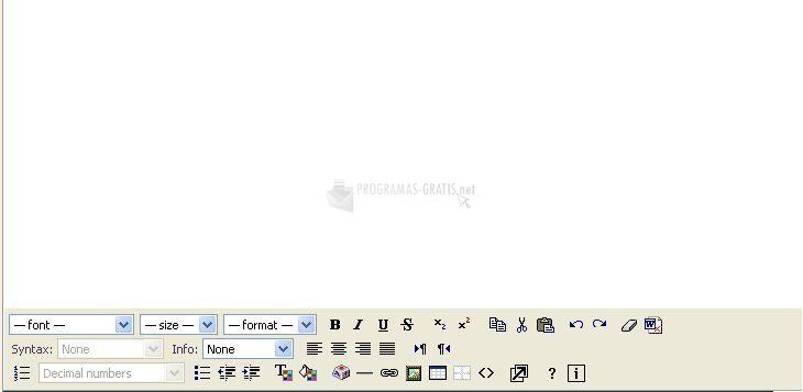 Pantallazo HTML Area