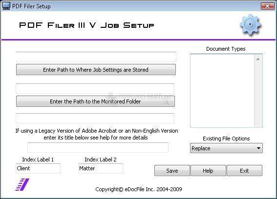 Pantallazo PDF Filer