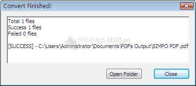 Pantallazo Simpo PDF to Text