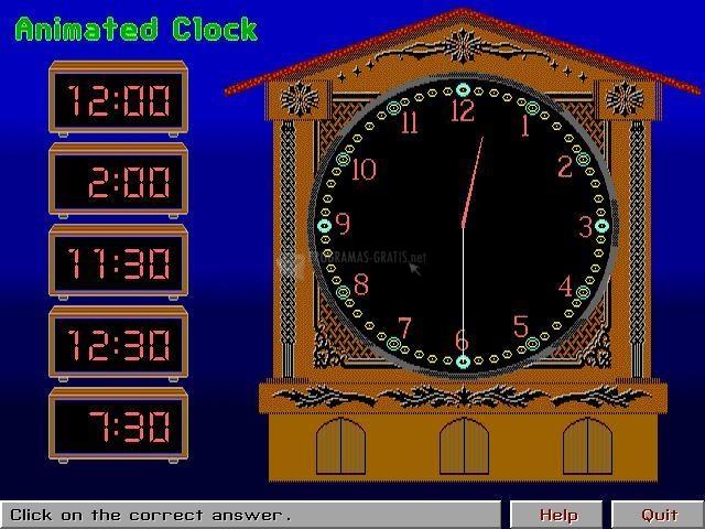 Pantallazo Animated Clock Game