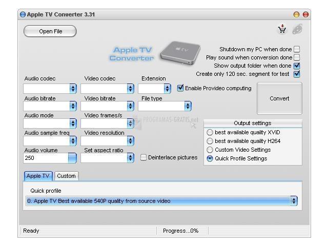 Pantallazo Apple TV Converter