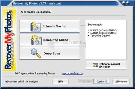 Pantallazo Recover My Photos Deutsch