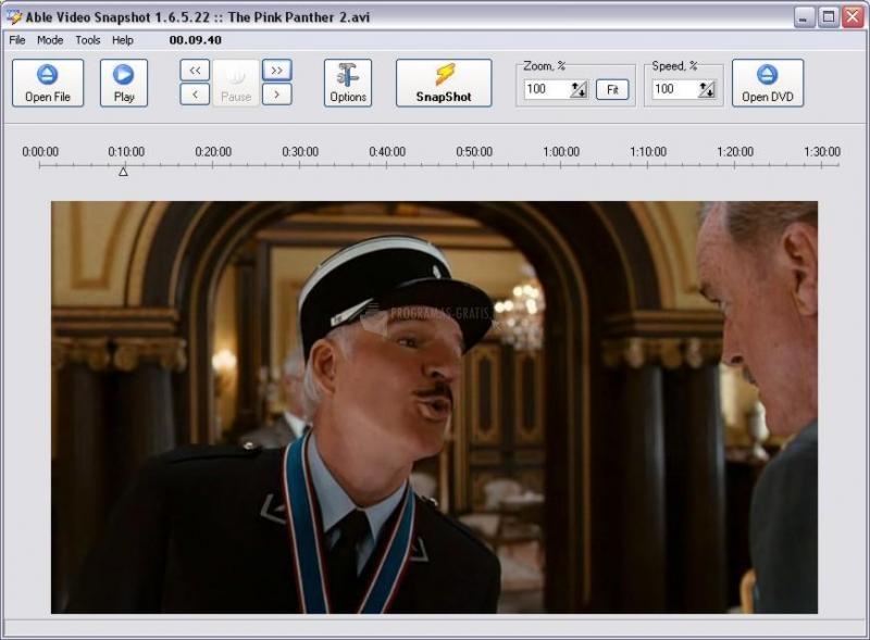 Pantallazo DVD Snapshot