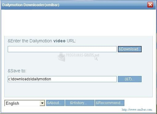 Pantallazo Dailymotion Downloader