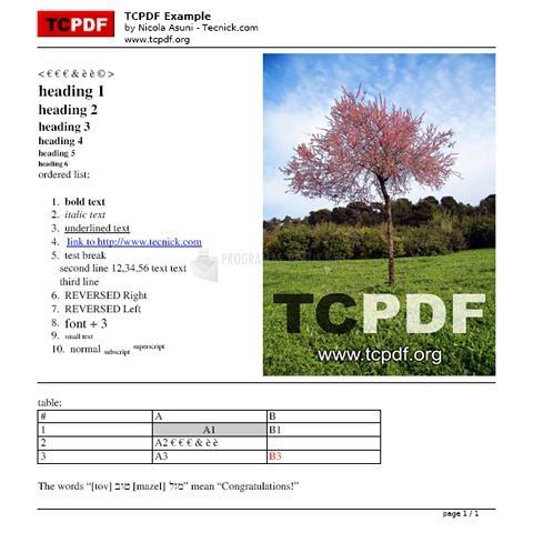 Pantallazo TCPDF
