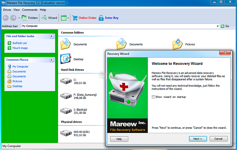 Pantallazo Mareew File Recovery