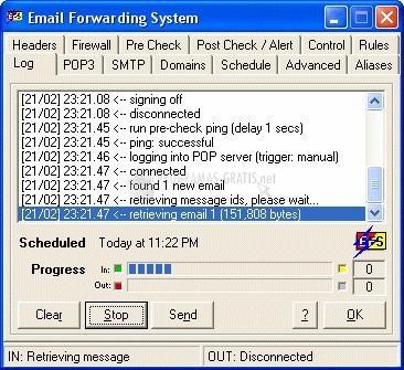 Pantallazo Email Forwarding Server