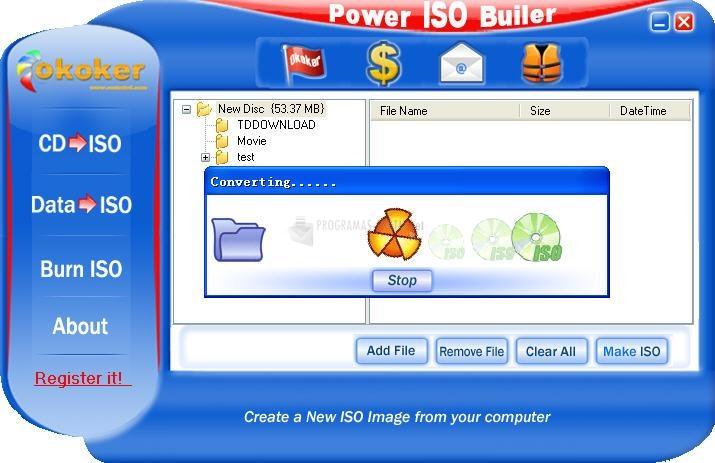 Pantallazo Power ISO Builder