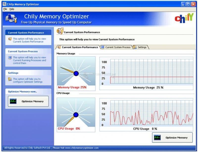 Pantallazo Chily Memory Optimizer