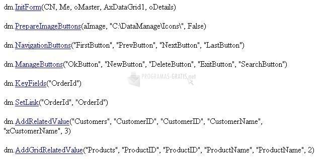 Pantallazo DC Data Manager