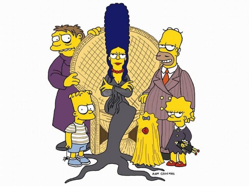 Pantallazo Simpson familia Addams