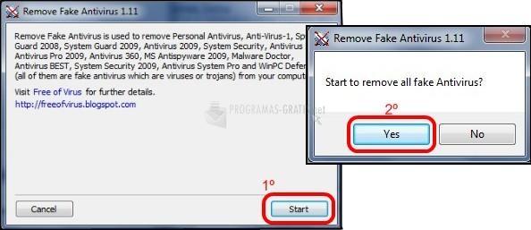 Pantallazo Remove Fake Antivirus