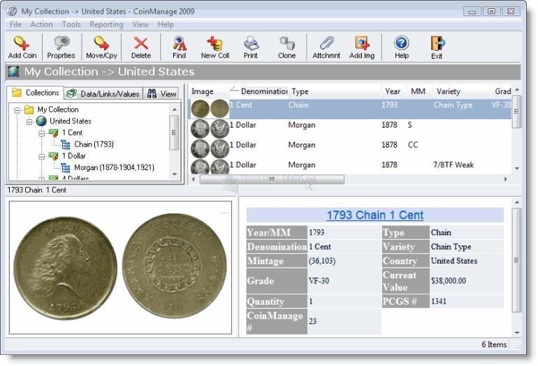 Pantallazo Coin Manage
