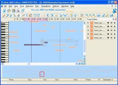 Pantallazo Able MIDI Editor