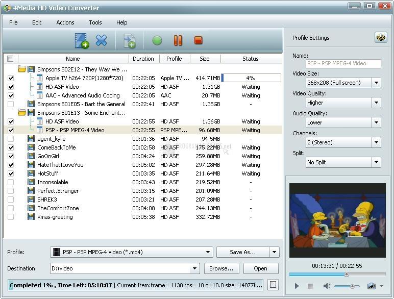 Pantallazo XsterSoft HD Video Converter