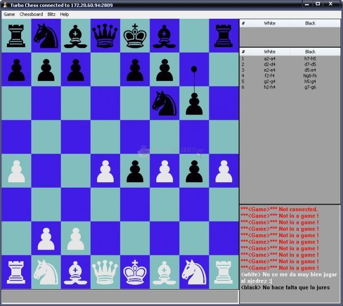Pantallazo Turbo Chess