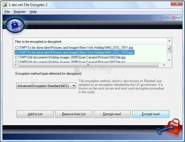 Pantallazo 1-abc.net File Encrypter
