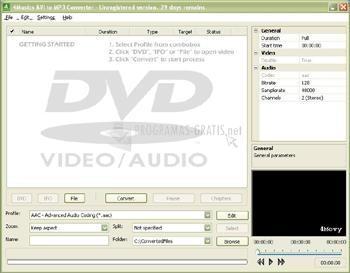 Pantallazo 4Musics AVI to MP3 Converter